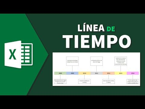 Cómo hacer una linea de tiempo fácil con excel en español - YouTube