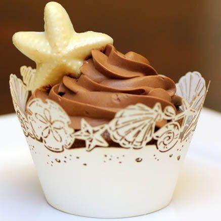 Wedding Chocolate Cupcakes with Chocolate Buttercream
