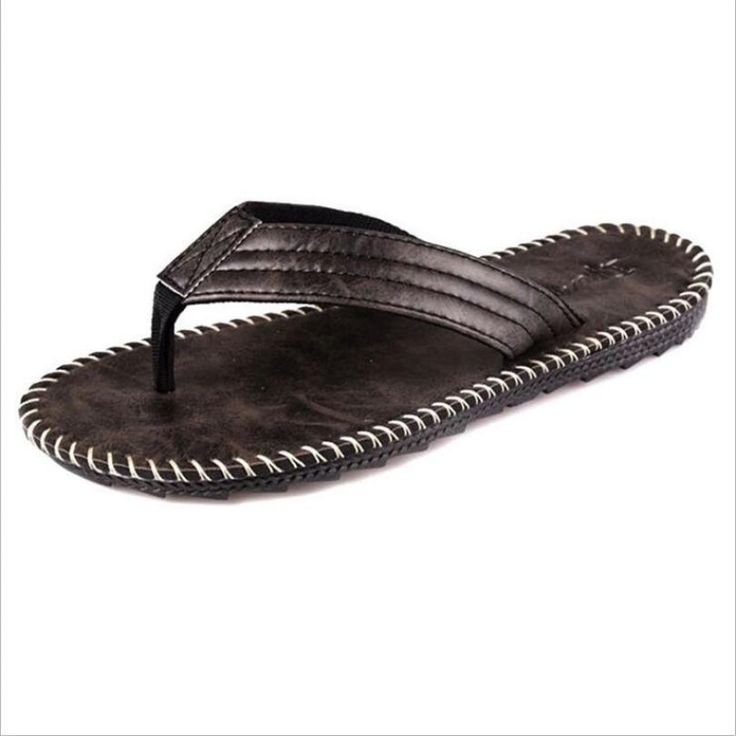 IPOMOEA 2017 Men Summer England Skidproof PU Sewing Flip Flops Mules Casual Beach Home Flat Slippers Adult Shoes (Black, Brown, Camel) - intl<BR><BR><BR>shop-mens-mules-shoes<BR><BR>http://www.9mserv.com/detail.php?pid=478961&cat=shop-mens-mules-shoes