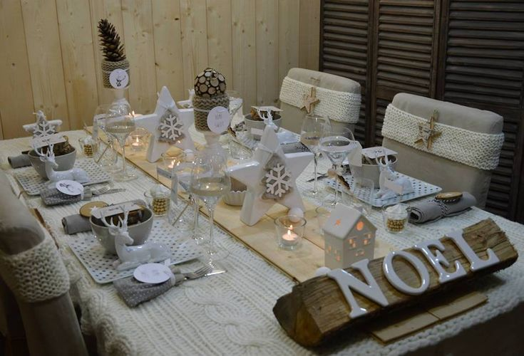Table de no l blanc f tes et no l pinterest no l tables et blog - Pinterest table de noel ...