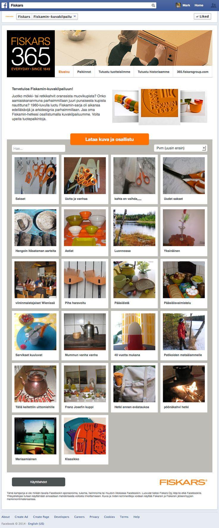 Photo Competition for Fiskars Group based on the Fanbooster platform.