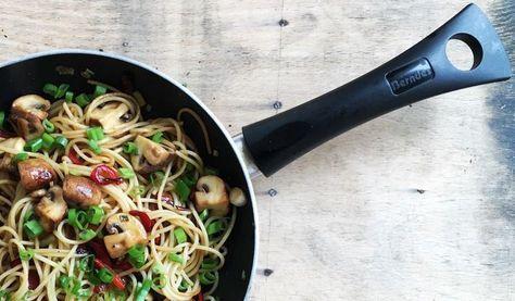 Pastamaniac - Spaghetti mit Champignons und Paprika, vegetarisch