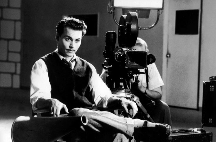 "Johnny Depp as ""Ed Wood"""