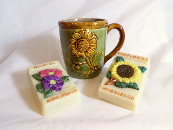 Sunflower Soap with Sunflower Mug