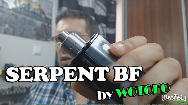 Serpent BF RDA 22mm by Wotofo + Build - BasilisL (Greek Reviews)