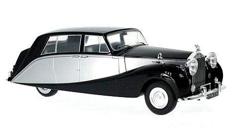 Rolls Royce silver Wraith Empress by Hooper, black-silver, RHD, 1956 - Diecast Auto Models   Hobbyland