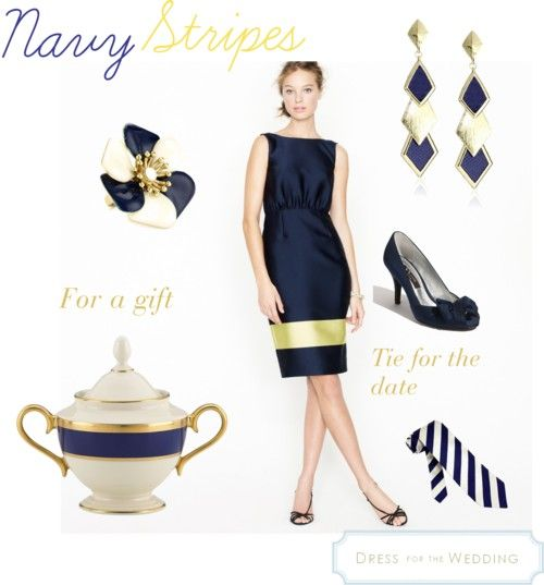 Navy and Gold   Dress For The Wedding   Dressforthewedding.com