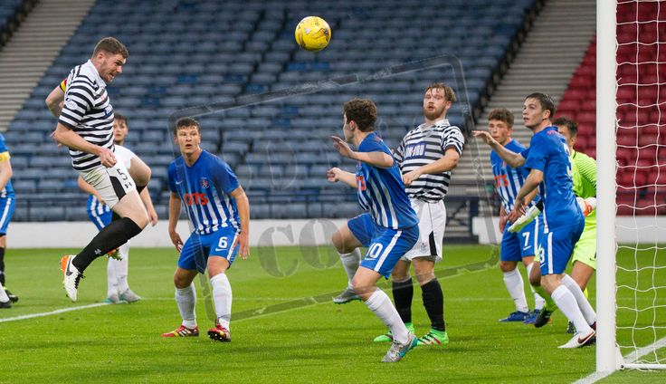 Queen's Park's Ryan McGeever scores during the IRN-BRU Cup game between Queen's Park and Kilmarnock Colts.