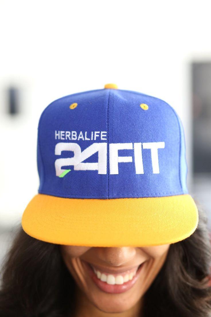 Herbalife 24 FIT snapback, royal blue/gold