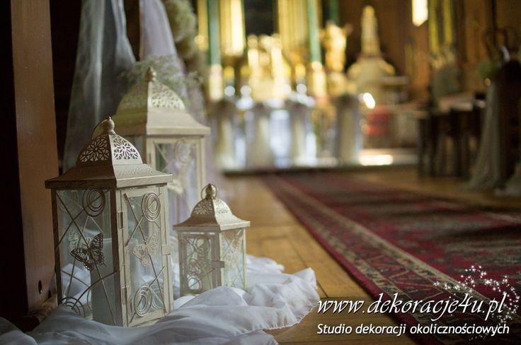 Lampiony dekoracyjnie w kościele www.dekoracje4u.pl