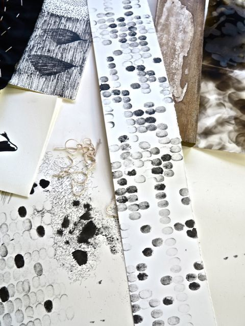 sophie munns : visual eclectica: Mark-making at Bunya with Dorothy Caldwell