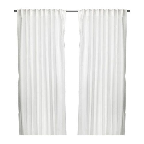 Vivan  Curtain rods, White curtains and Window