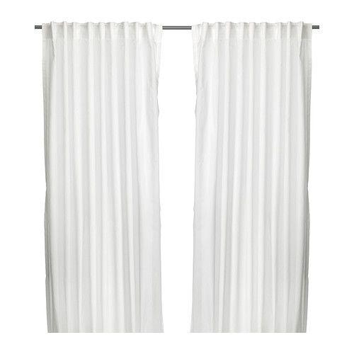 IKEA - VIVAN, Tenda, 2 teli, , Le tende lasciano filtrare la luce salvaguardando, al tempo stesso, la tua privacy. Sono ideali per una soluzione a più strati.Le tende si possono appendere su un bastone per tende o sul binario per tende.Il nastro sul bordo superiore ti permette di creare facilmente delle pieghe usando i ganci per tenda RIKTIG.Puoi appendere le tende a un bastone per tende usando i passanti nascosti oppure utilizzando anelli e ganci.