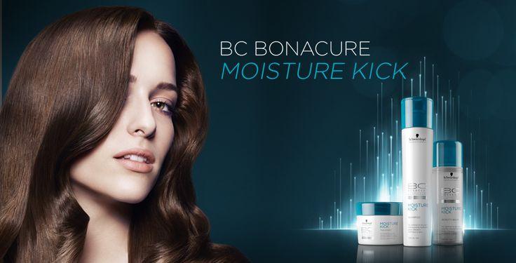 Schwarzkopf BC Bonacure Moisture Kick Produits hydratants pour cheveux secs et bouclés Hair care for dry or curly hair