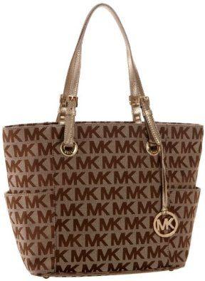 Amazon.com: MICHAEL Michael Kors E/W Signature Tote,Beige/Ebony/Gold,one size: Michael Kors: Shoes
