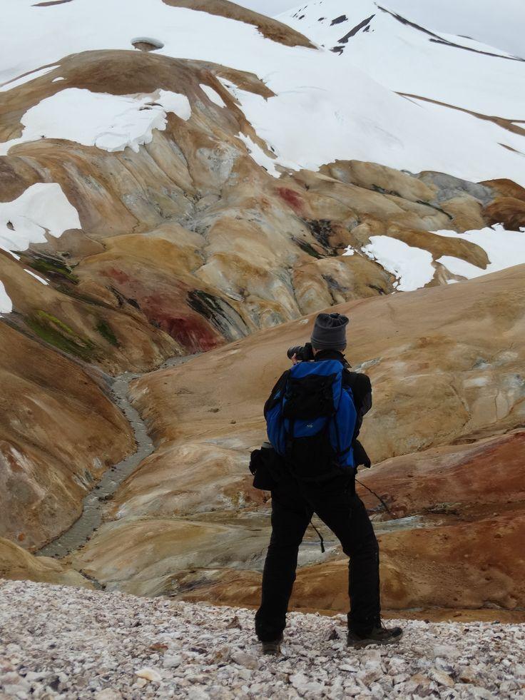 schilderspalet uit rots #ijsland