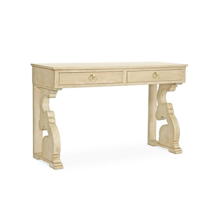Redford House Chloe Petite Console Table in Cashew