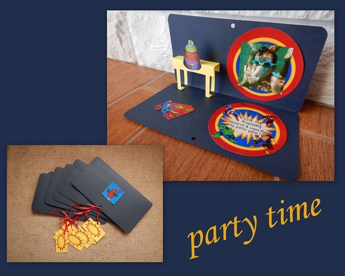 Handmade party invitation.