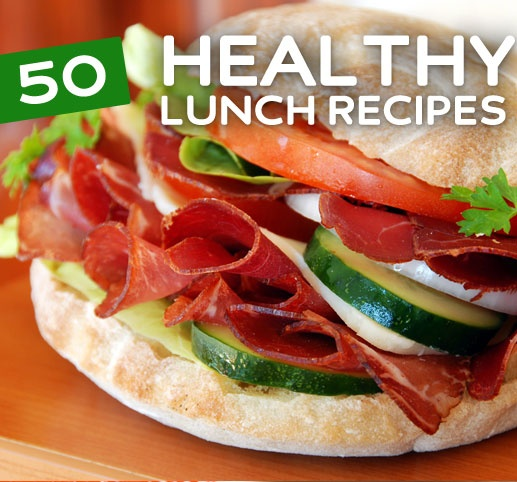 50 Healthy Lunch Recipes--awesome slow cooker recipes too!