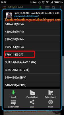 Cara download video YouTube Di Android dengan & tanpa Aplikasi lengkap link download tubemate.apk, kekurangan kelebihan unduh vidio tanpa software lewat HP https://goo.gl/oZa8on