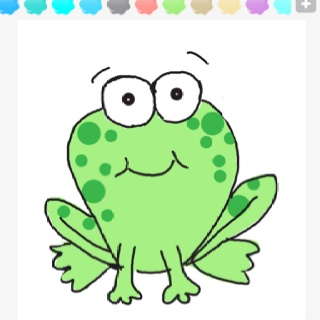 how to draw a simple frog