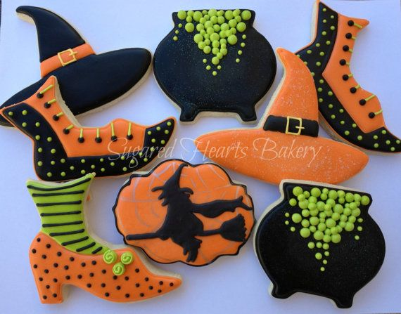 Hey, I found this really awesome Etsy listing at https://www.etsy.com/listing/199113765/orange-witch-halloween-cookies