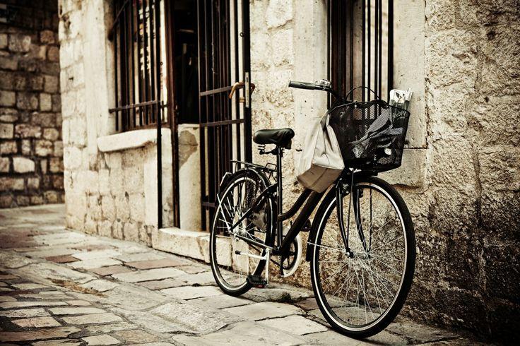 Города Улица Велосипед Стена