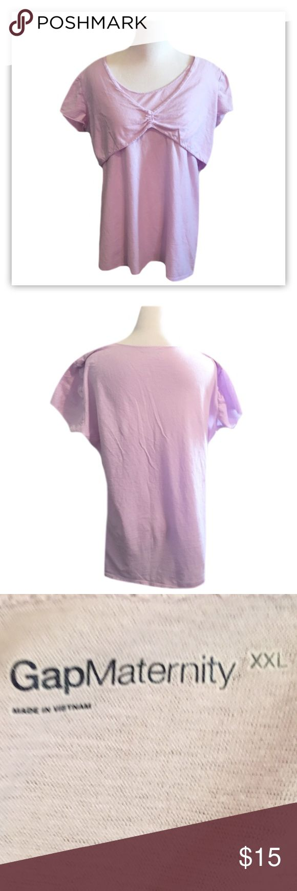 """Gap Maternity And Nursing Short Sleeve Top ◾️Gently used Gap Maternity/Nursing Short Sleeve Top ◾️Light purple ◾️The top lifts up for breastfeeding  ◾️Size XXL ◾️Made with 100% Cotton ◾️Length is 26"""" ◾️Bundle and Save  ◾️Offers are Always welcomed GAP Tops"""