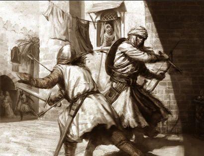 Vestimenta tradicional de la orden de los asesinos (nazaríes), la cual se utilizaba para la ocultación de su rostro y ejecutar ataques hacia la orden de los templarios.