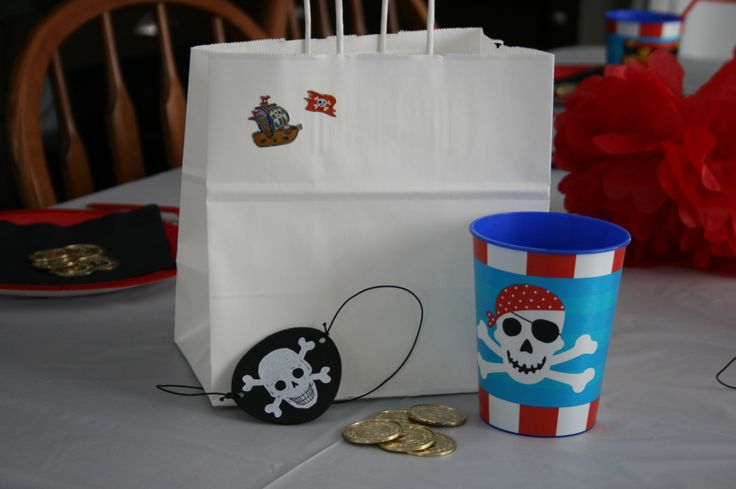 Don't need to worry about the loot bag.  Provided for all your guests in this Ready, Set, Party Pirate Party Package.
