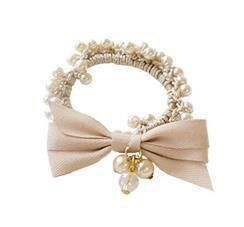 Pearls and Ribbon scrunchies