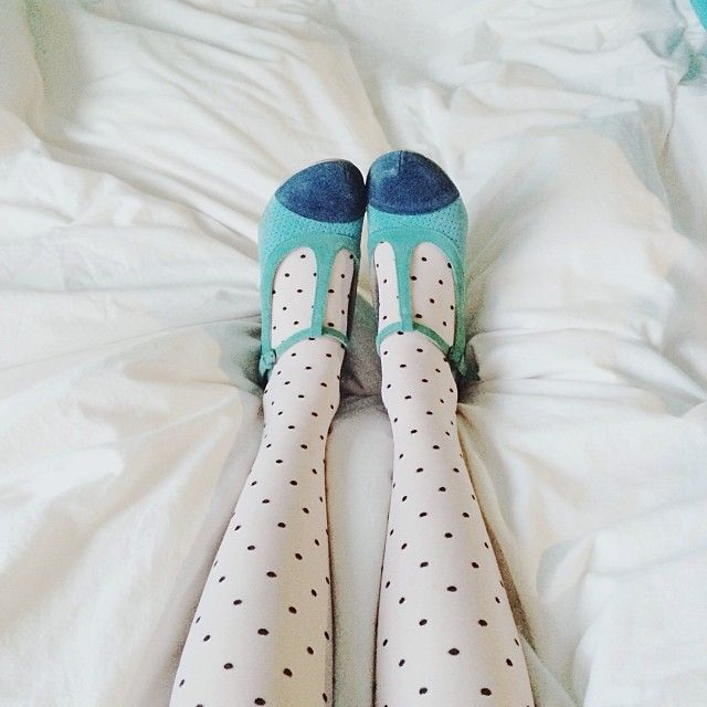 Two of my favorite things combined - dots and shoes :)
