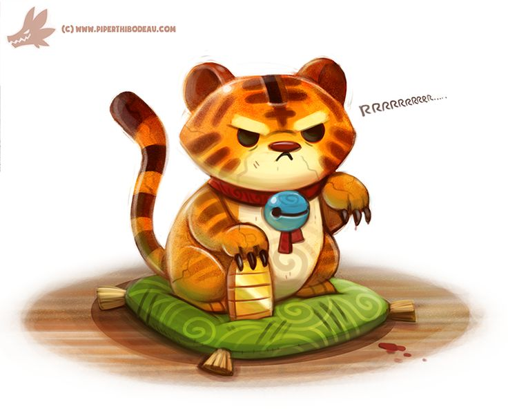 Daily Paint #1089. Lucky Tiger by Cryptid-Creations.deviantart.com on @DeviantArt