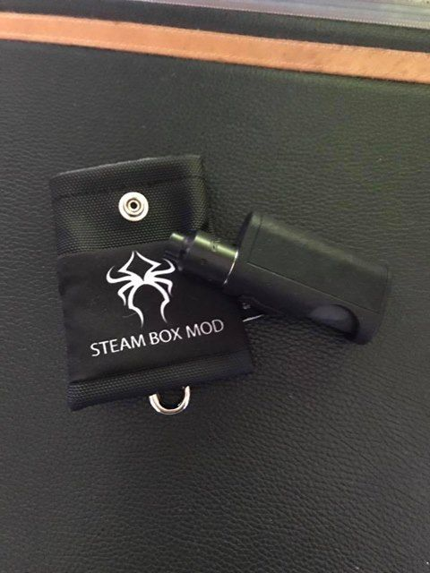 Pandoras black belt pouch STEAM BOX MOD logo