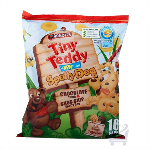 Tiny Teddy & Spotty Dog (Pack of 10) – Arnott's – 230g | Shop Australia