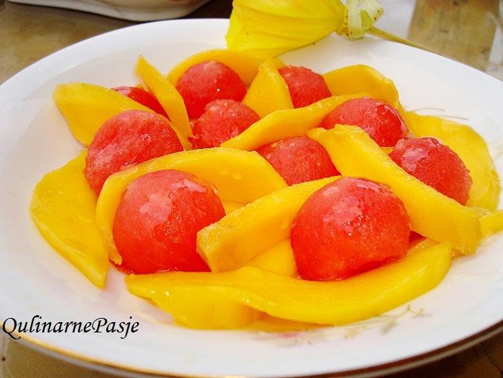 #arbuz #mango #sałatka #mniam