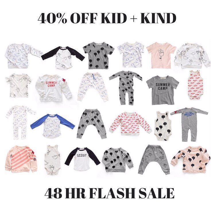 40% Off Kid  Kind! Ends midnight! 48hr flash sale on one of our most loved brands! There's still plenty of jumpers and long sleeve Raglans available - sizing is a generous TTS especially with the tops so no need to size up like previous seasons.  Code: kidandkind FREE shipping on orders over $100 Afterpay and ZipPay available #kidandkind #kidandkindstockist #kidandkindsale