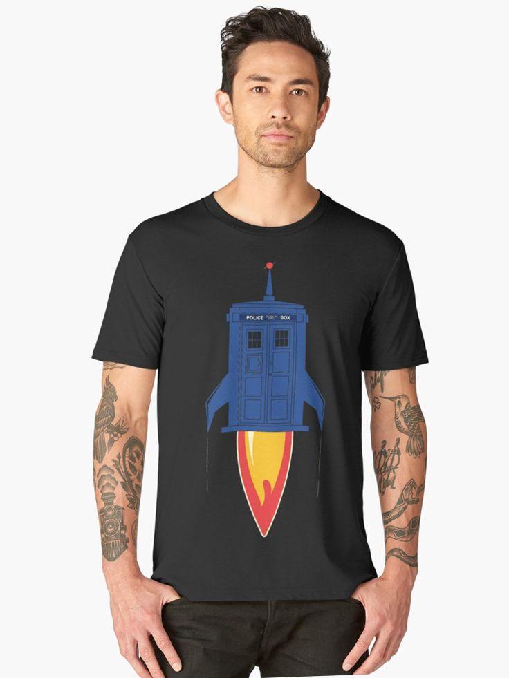 Retro rocket. Men's Premium T-Shirt