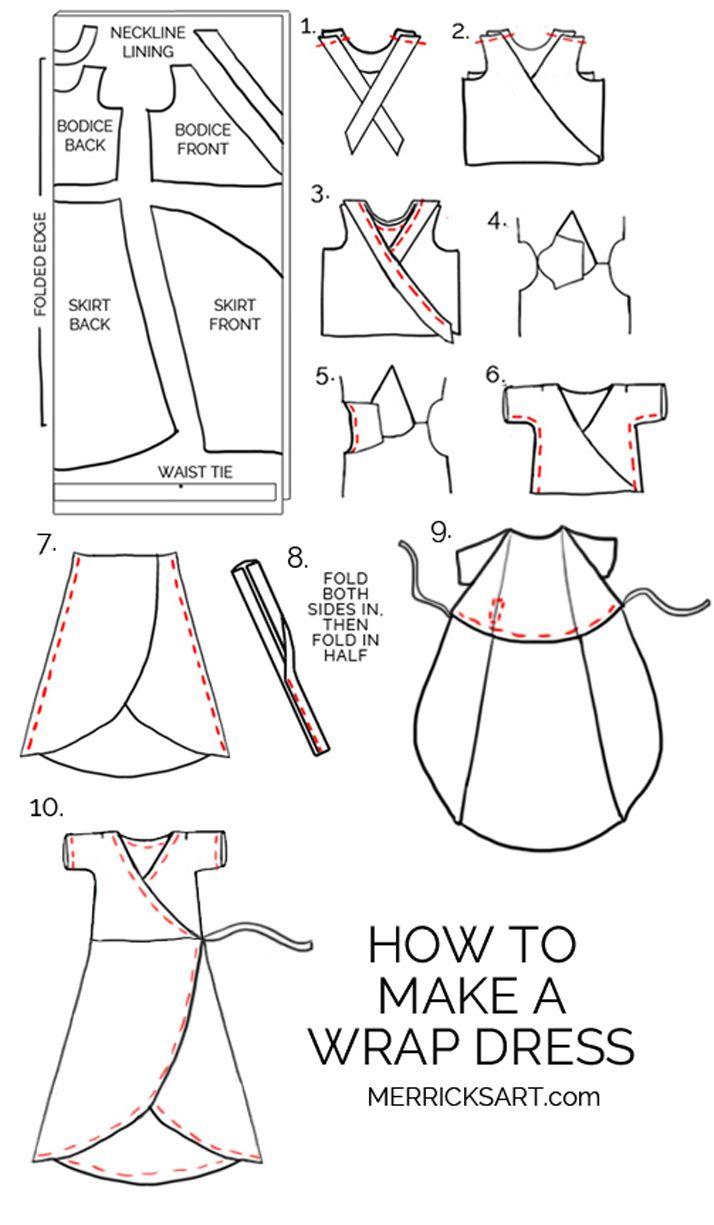 Midi Wrap Gown Stitching Tutorial