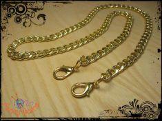 Catena oro o argento mm.9, tracolla per borse, cm.160