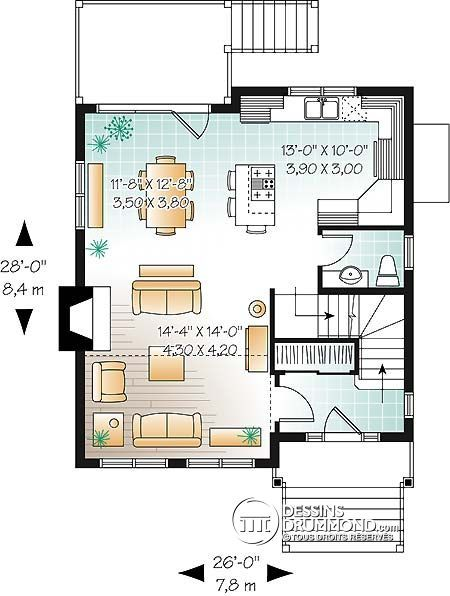 1232 best планы images on Pinterest | Architecture, Small houses ...