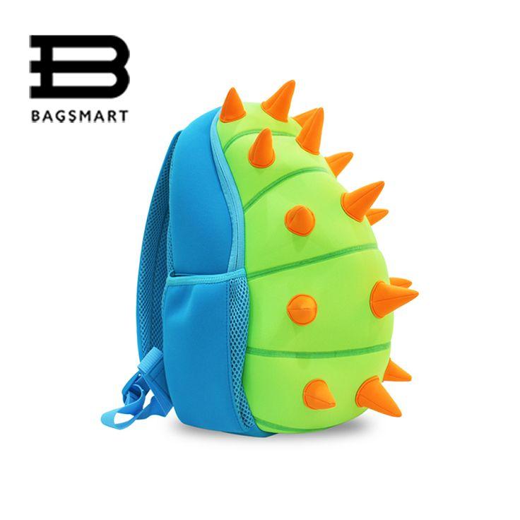 BAGSMART Animal Waterproof Kids Baby Bags Kindergarten Neoprene Dinosaur Children School Bags For Girls Boys Cartoon School Bags