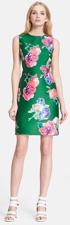 Kate Spade New York Blooms Della Floral Print Shift Dress ($328)