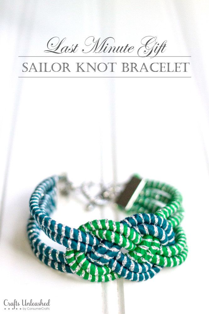Once you get the hang of how to create the knot of this knot bracelet DIY, the whole thing can be made in under 20 mins! A gorgeous & easy last minute gift!
