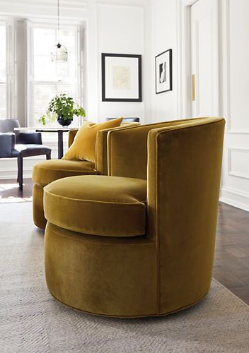 Simple and classic, our Otis chair is a modern version of the classic tub chair. Featuring a smooth-gliding swivel in a compact design, Otis is an inviting chair that looks great in pairs.