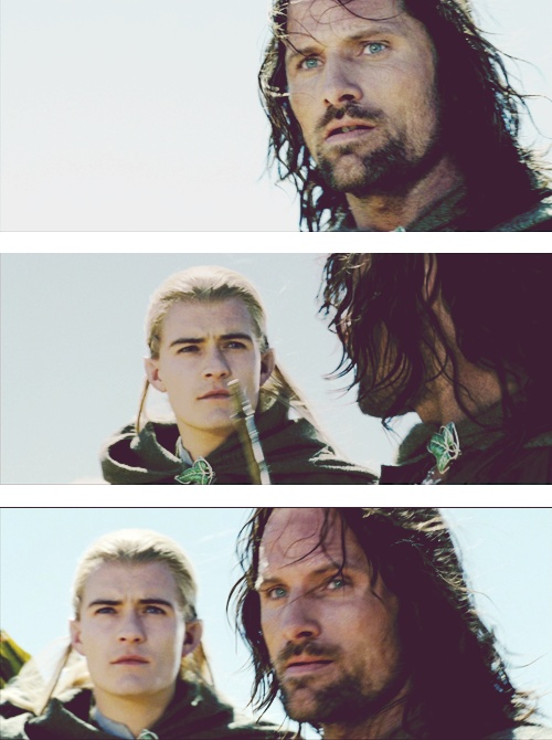 viggo mortensen. orlando bloom. lotr.