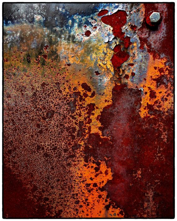 Rust Abstract Photography 8 x 10 Fine Art by theheartoftheeye,