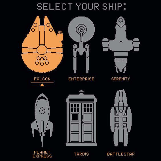 Select your ship t shirt