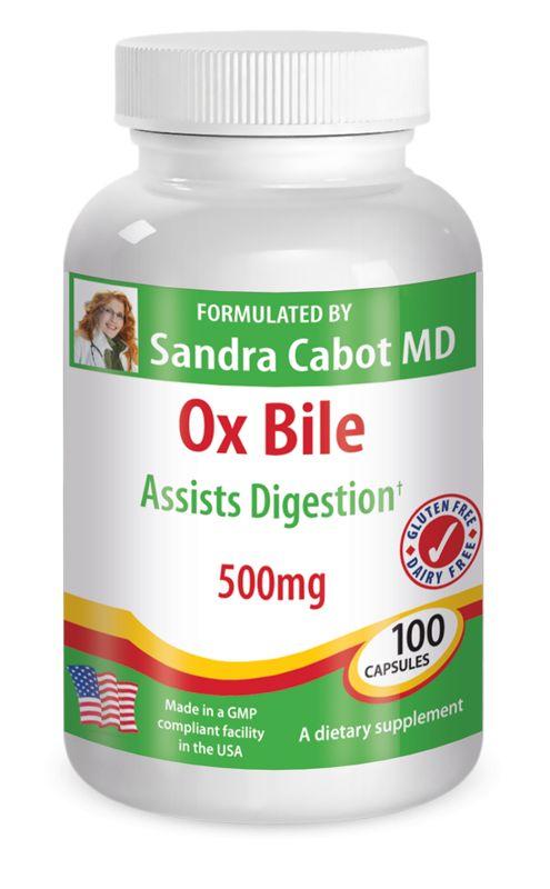 Ox Bile 500mg 100 Capsules