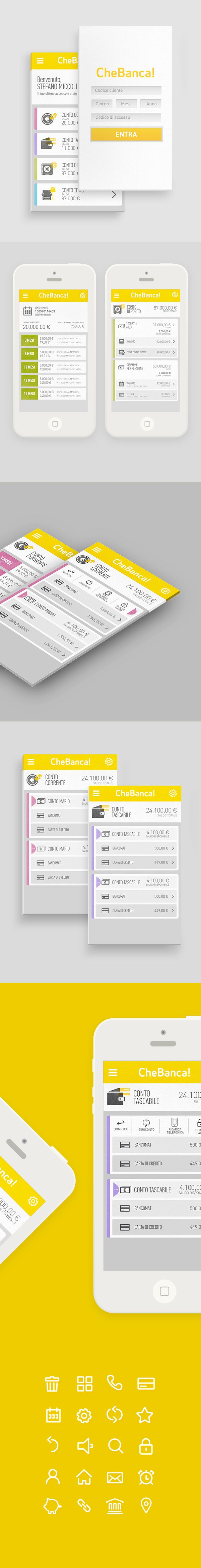 Banking App by LUMEN BIGOTT, via Behance